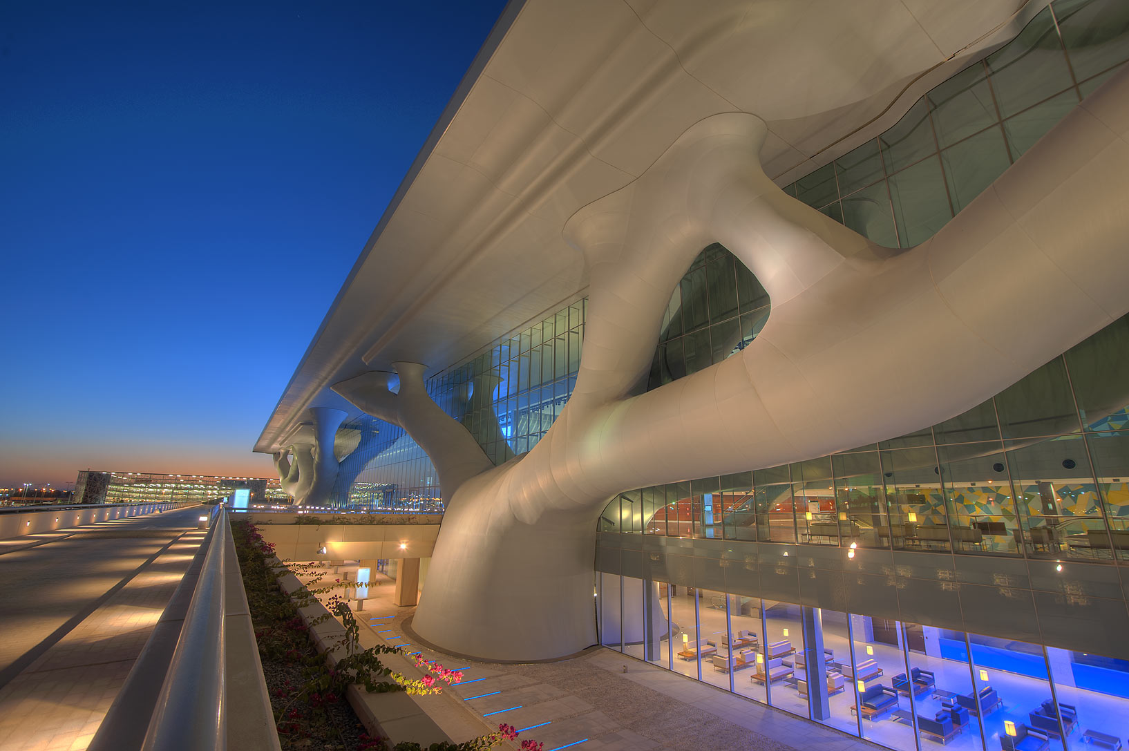 Front side of National Convention Centre (QNCC). Doha, Qatar
