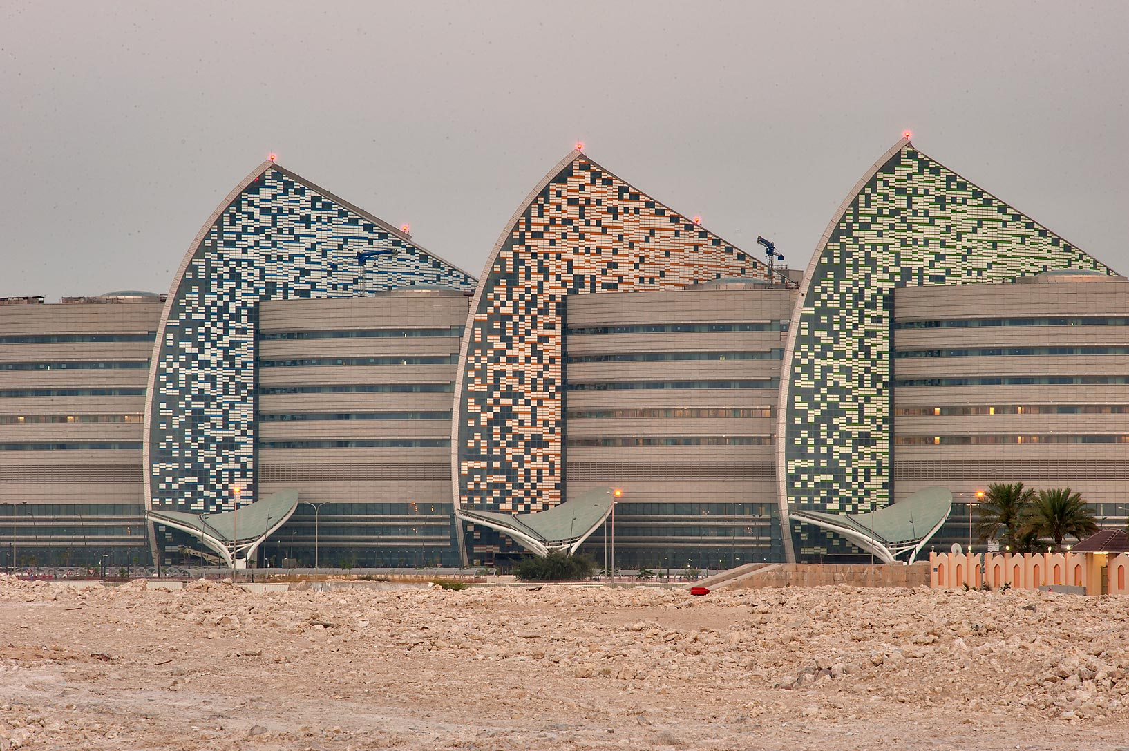 Front side of Sidra Medical and Research Center. Doha, Qatar