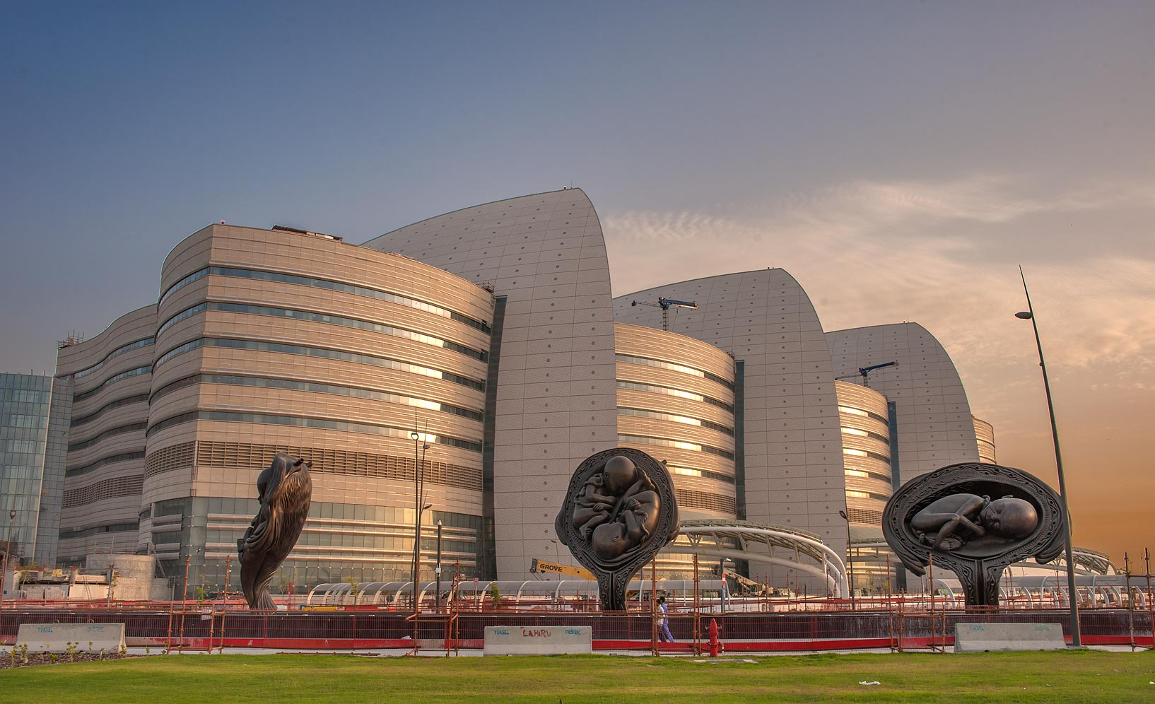 "Developing of fetus among ""Miraculous Journey...and Research Center. Doha, Qatar"