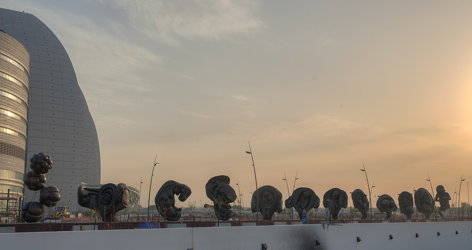 "Series of giant ""Miraculous Journey"" sculptures...and Research Center. Doha, Qatar"