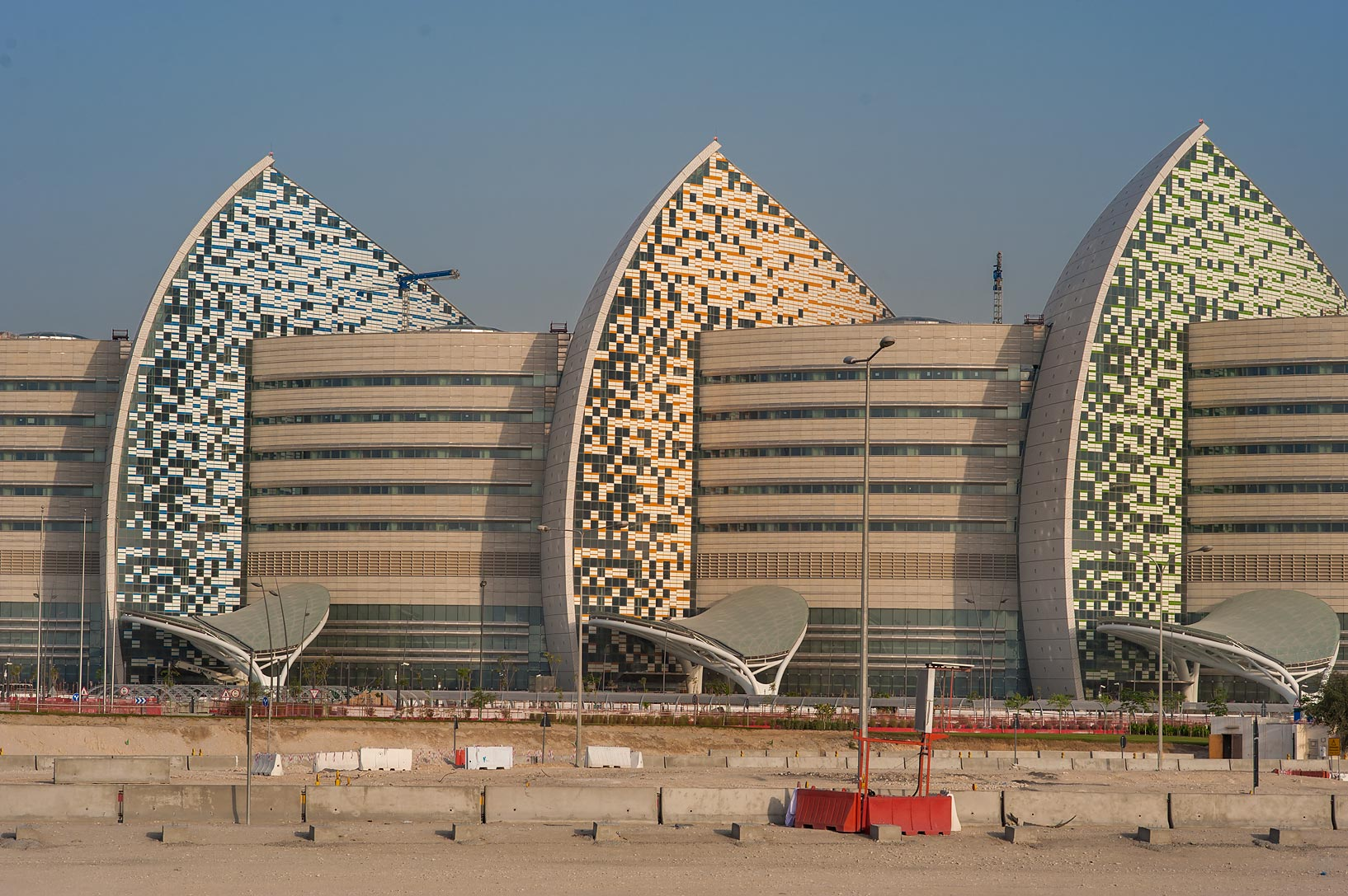 Ornamental panels of Sidra Medical and Research Center. Doha, Qatar