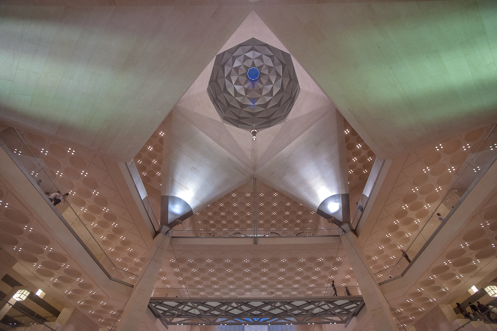 Faceted ceiling of Museum of Islamic Art. Doha, Qatar