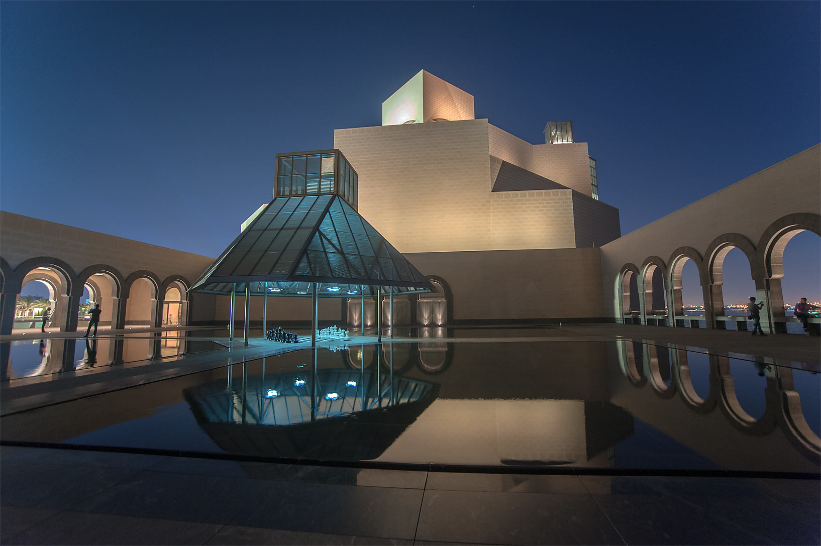 Fountain courtyard of Museum of Islamic Art. Doha, Qatar