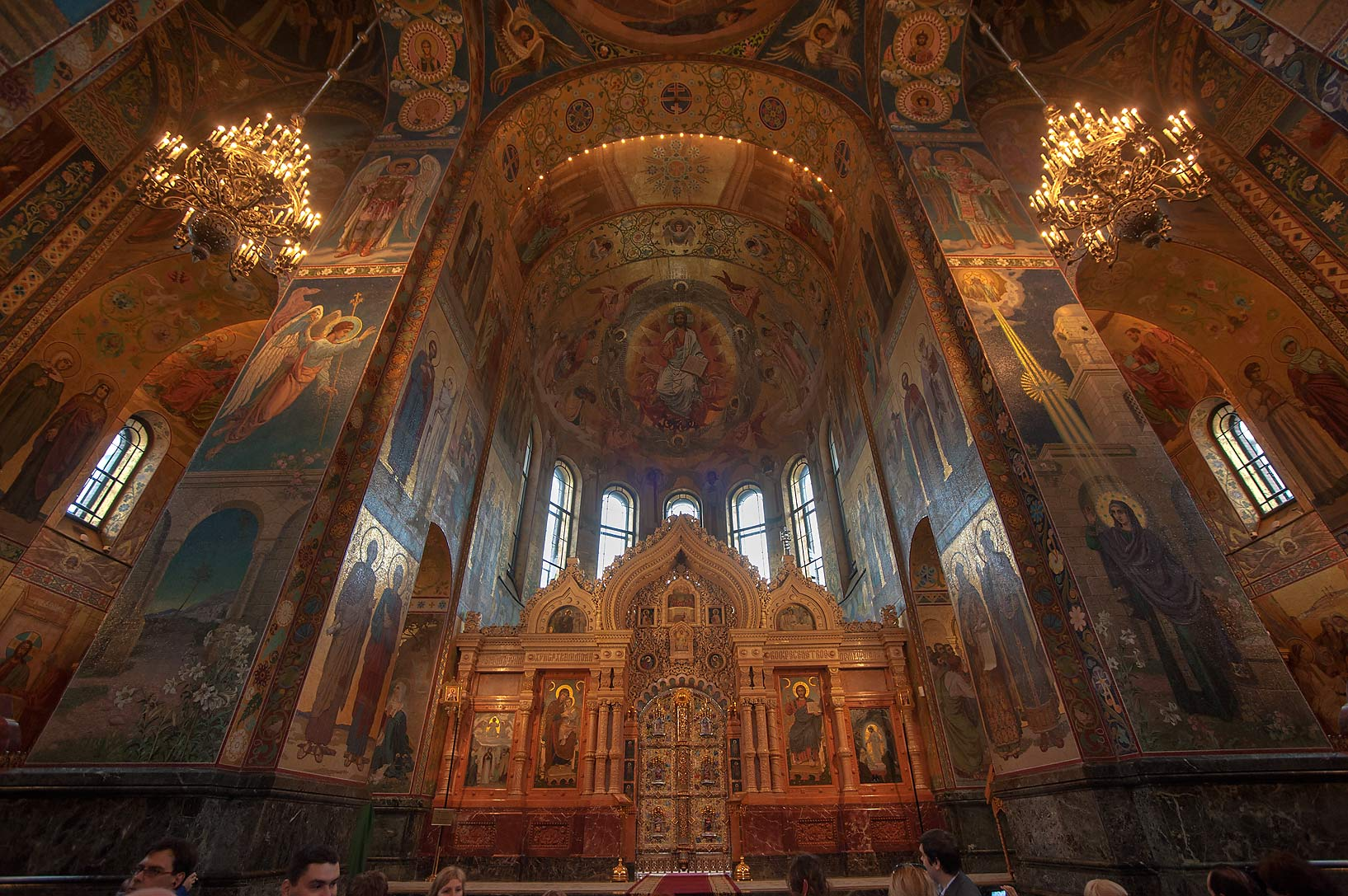Altar niche of Church of Savior on Blood. St.Petersburg, Russia