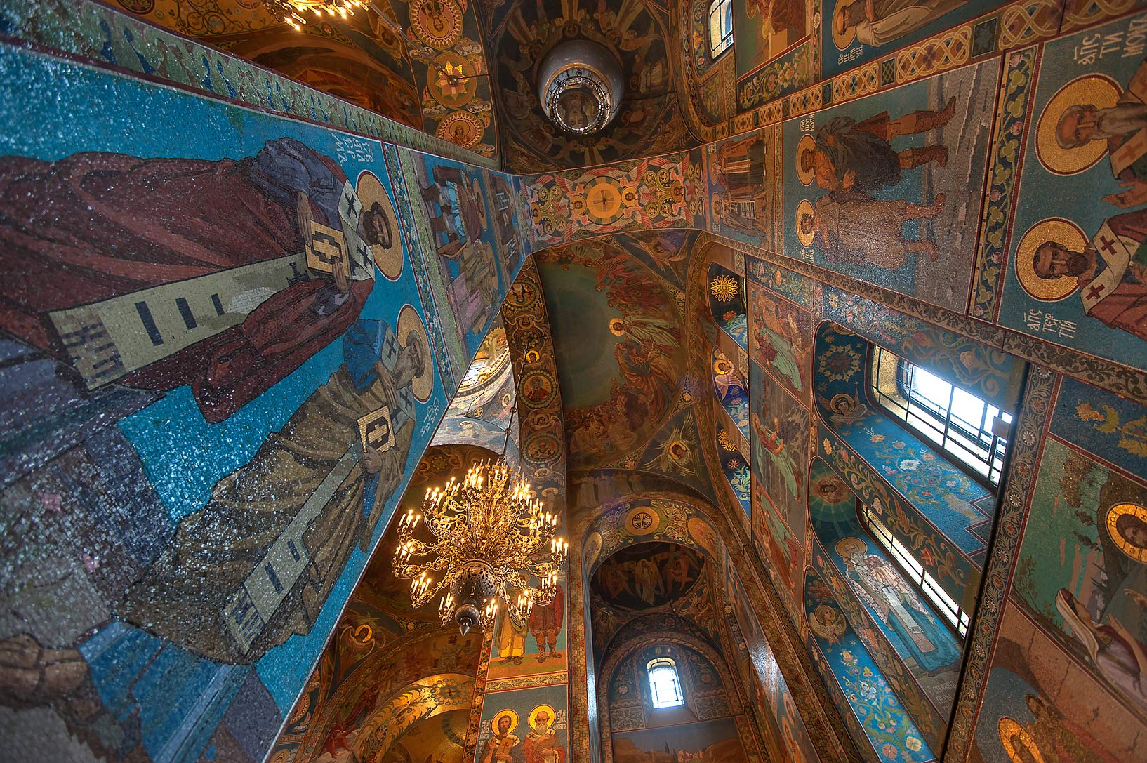 Stone pillars of Church of Savior on Blood. St.Petersburg, Russia