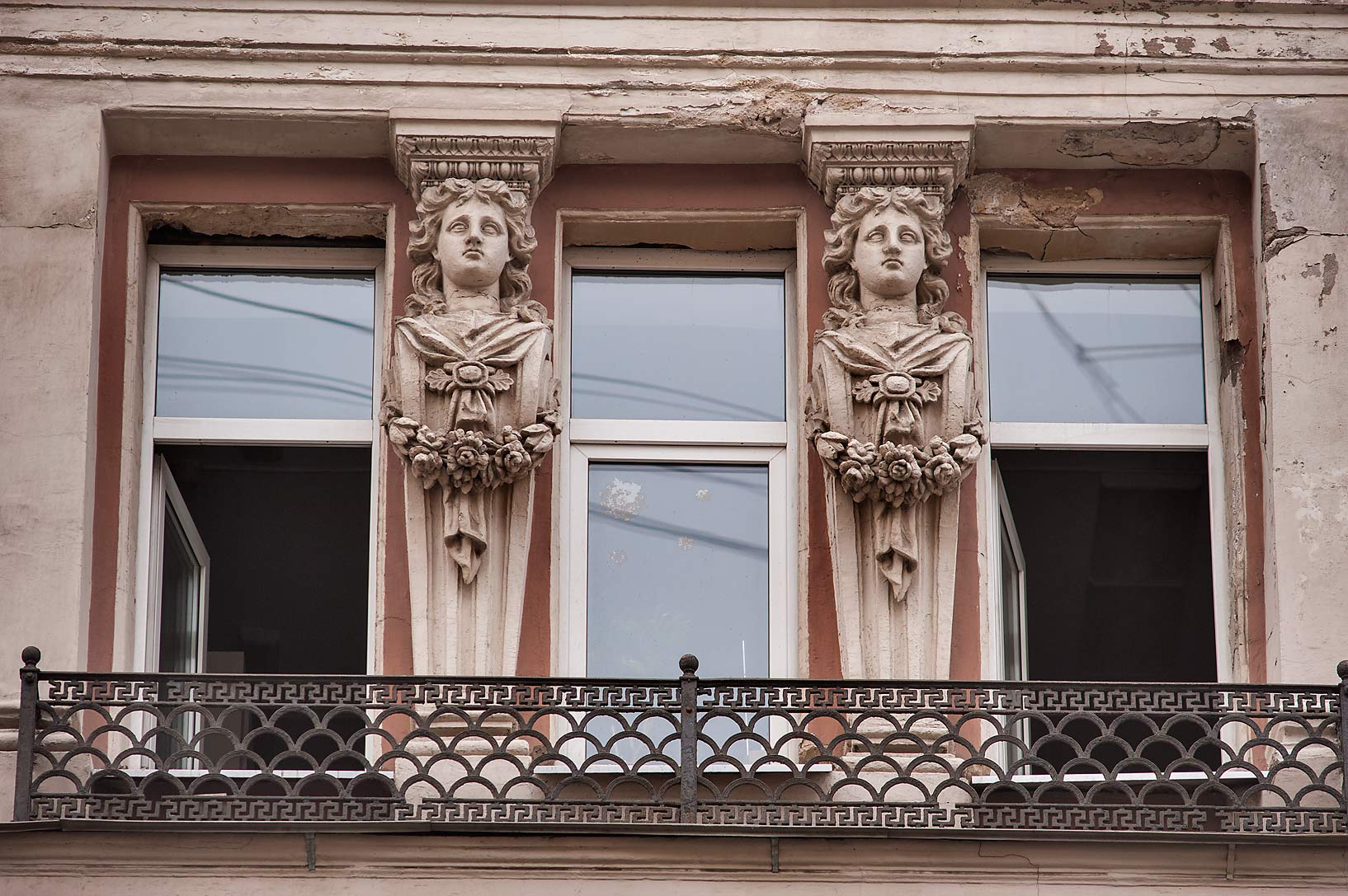 Balcony on Mokhovaya St.. St.Petersburg, Russia