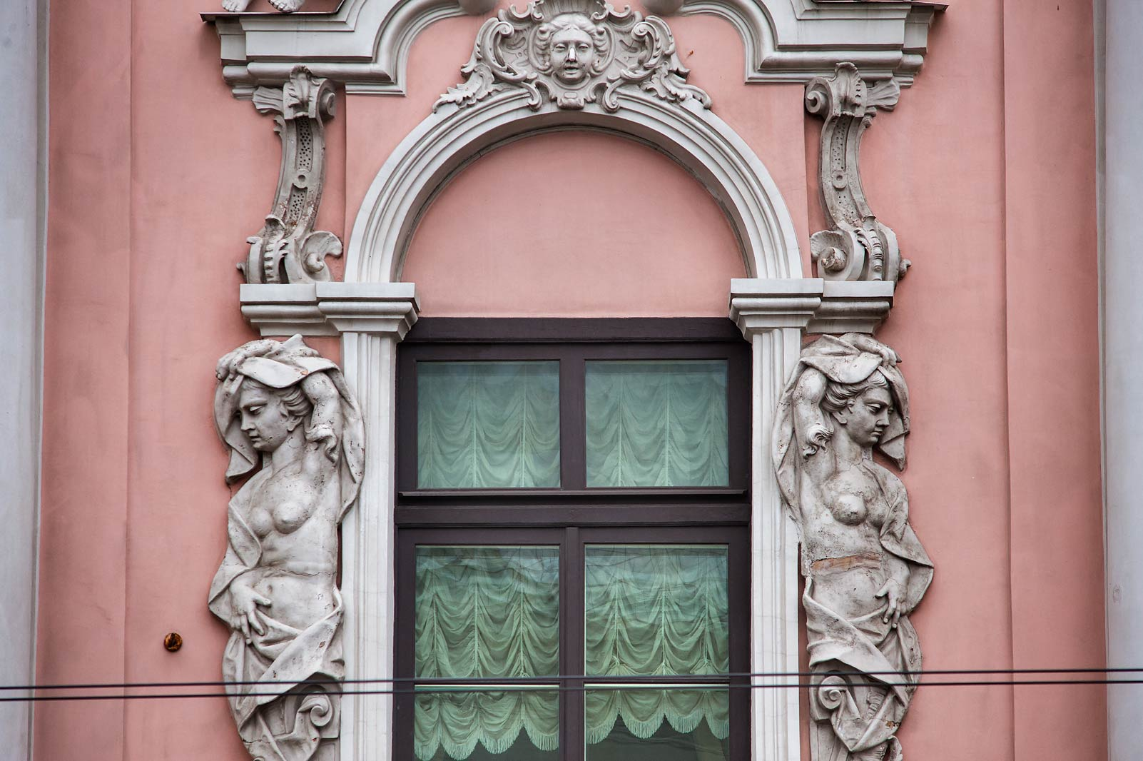 Window at 20 Nevsky Prospect. St.Petersburg, Russia