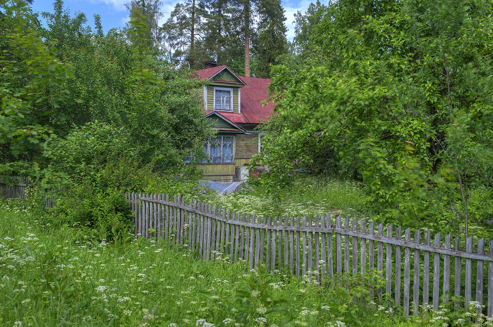 Dacha (summer house) in Siverskaya, 50 miles south from St.Petersburg. Russia