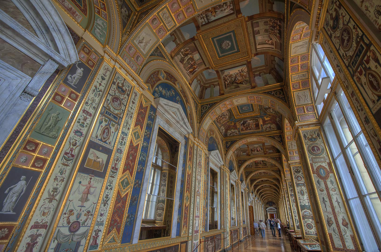 Replica of Raphael Loggias in Hermitage Museum. St.Petersburg, Russia