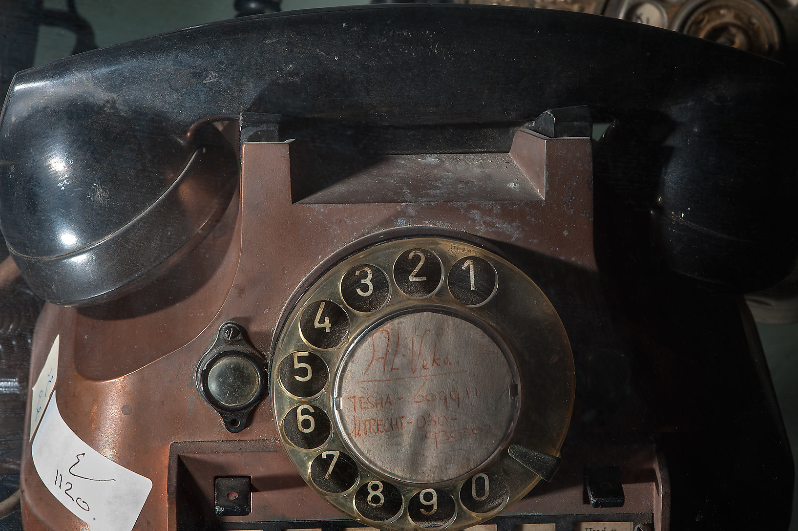 Dusty telephone on display in Sheikh Faisal Bin...Thani Museum near Al-Shahaniya. Qatar