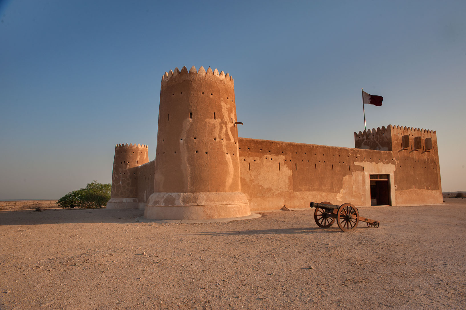 Doha - Zubara, Qatar  - Zubara Fort at sunrise. Northern Qatar