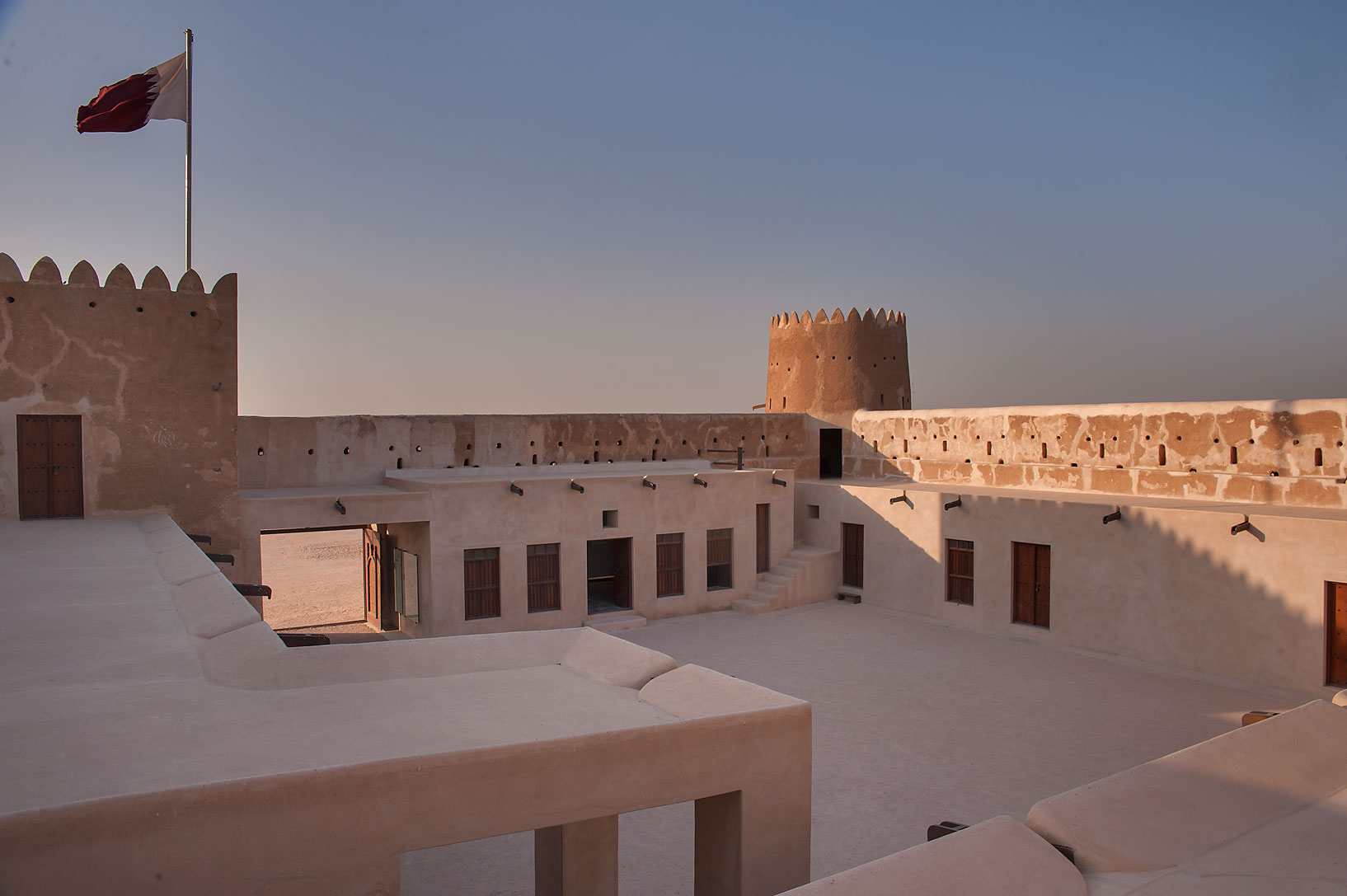 Yard inside Zubara Fort. Northern Qatar