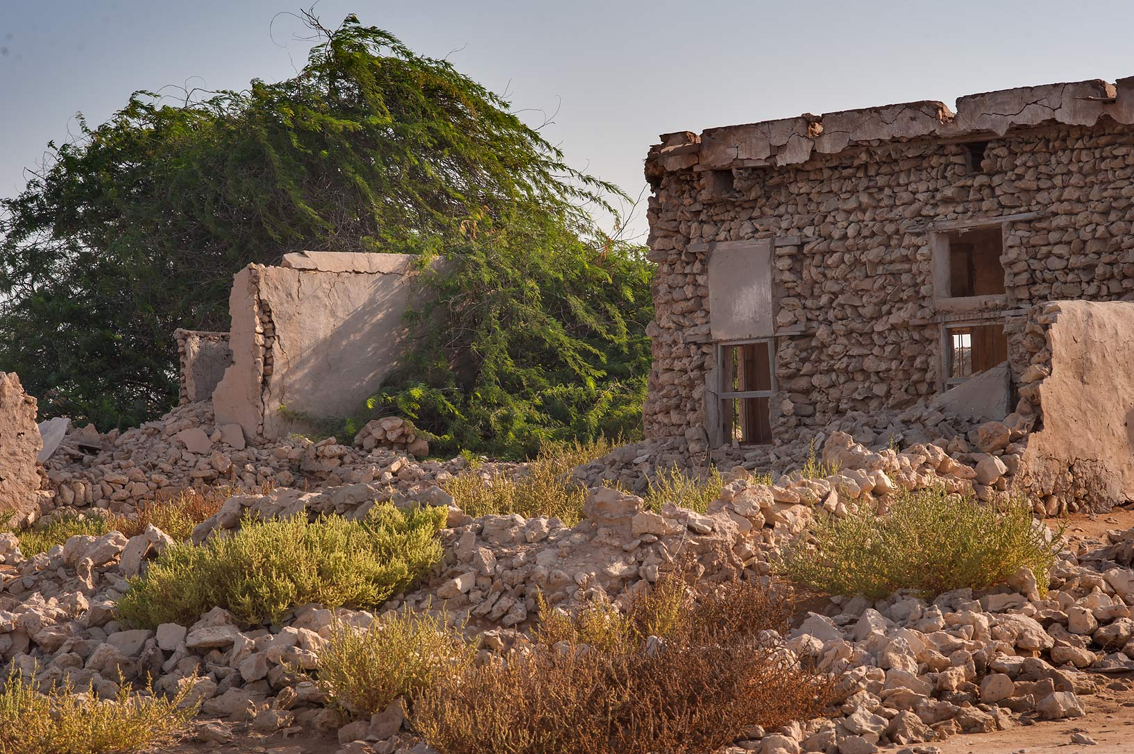Ruined village of Al Jumail (Jumayl) west of Ruwais on northwest coast. Qatar