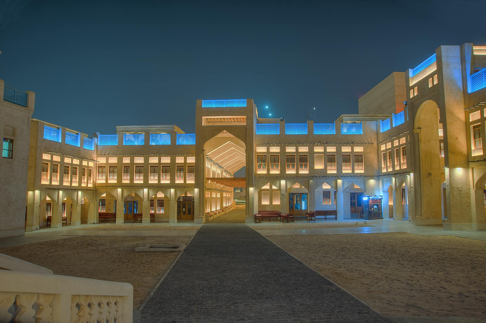 Building of Bird Market (falcons) in Souq Jaidah behind Souq Waqif. Doha, Qatar