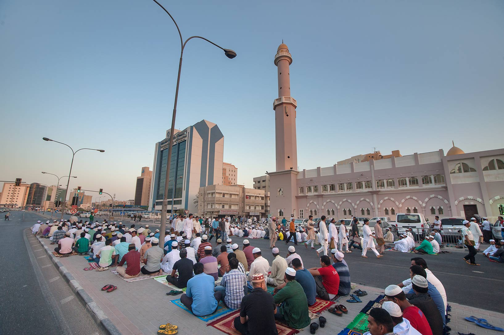 Eid al-Adha prayer near Al Asmakh Mosque at...masjid) in Musheirib area. Doha, Qatar
