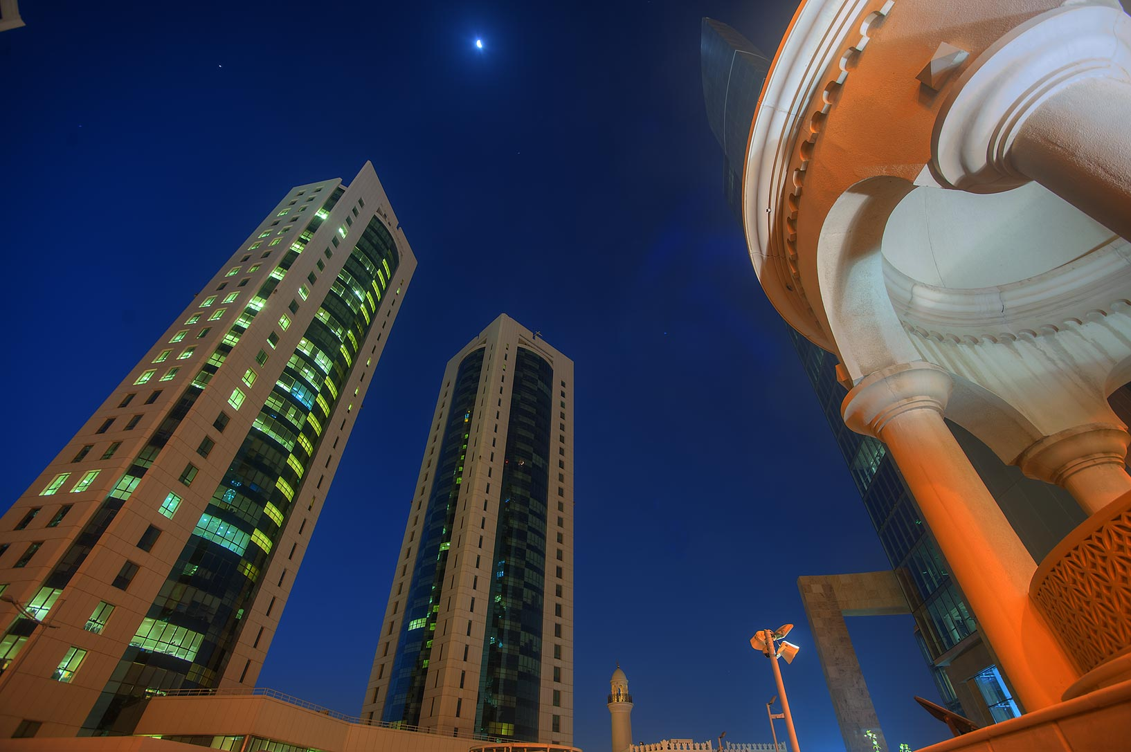Area of Barzan Tower in West Bay. Doha, Qatar