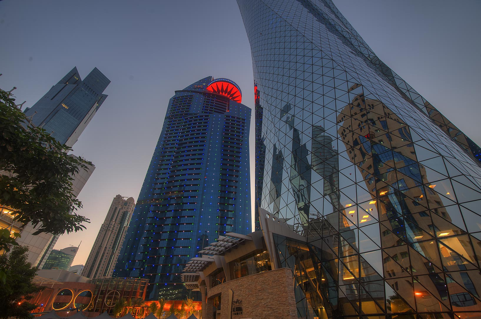 WTC and Al Bidda towers in West Bay. Doha, Qatar