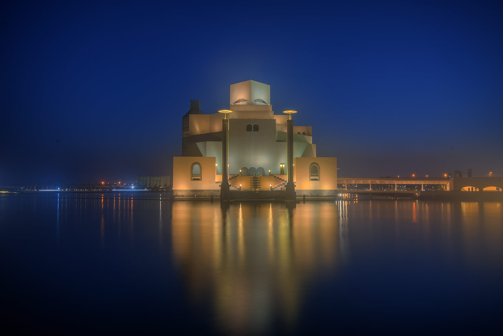 Boat entrance of Museum of Islamic Art. Doha, Qatar