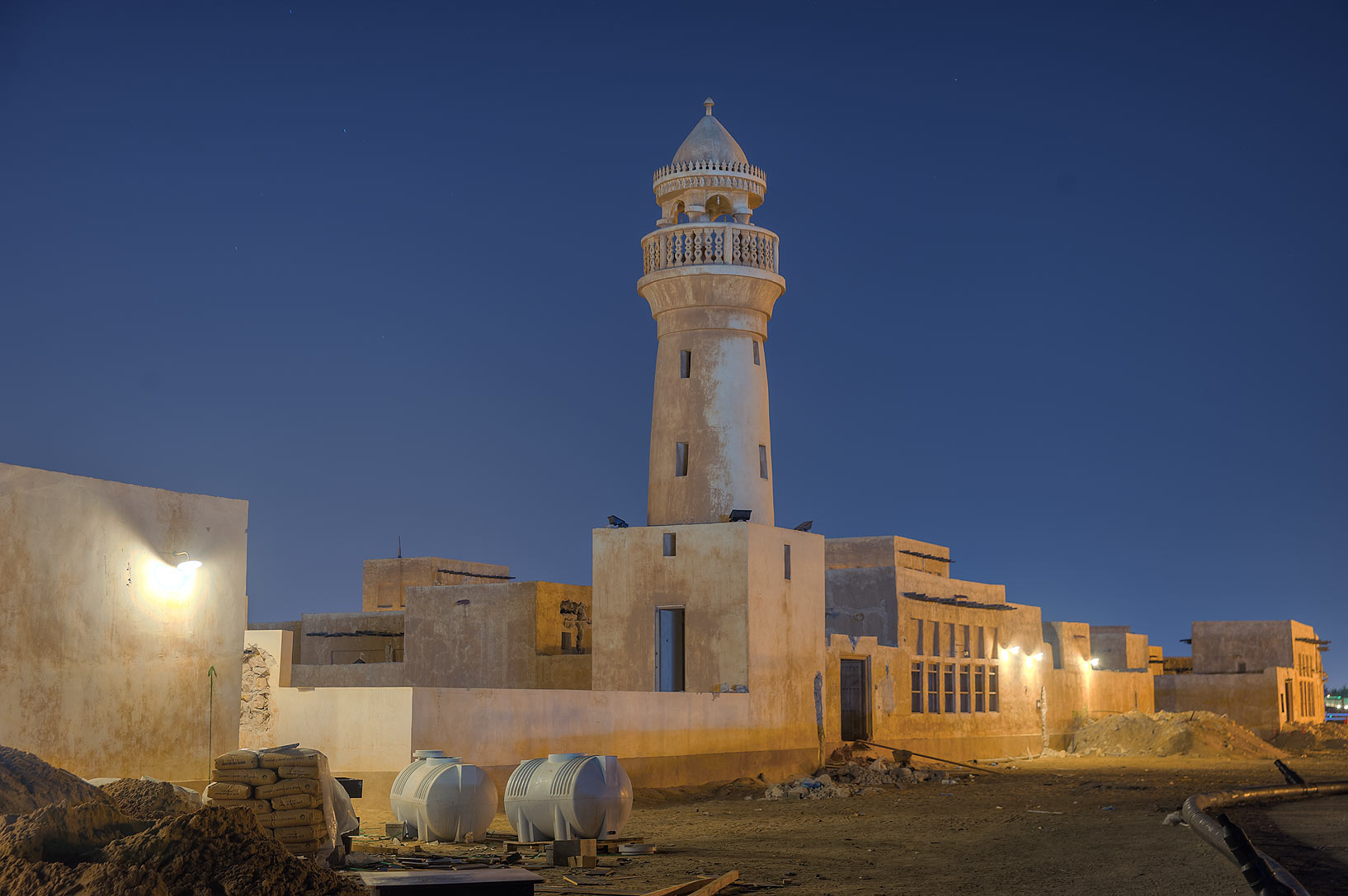 Old style restored mosque in Al Wakra. Qatar