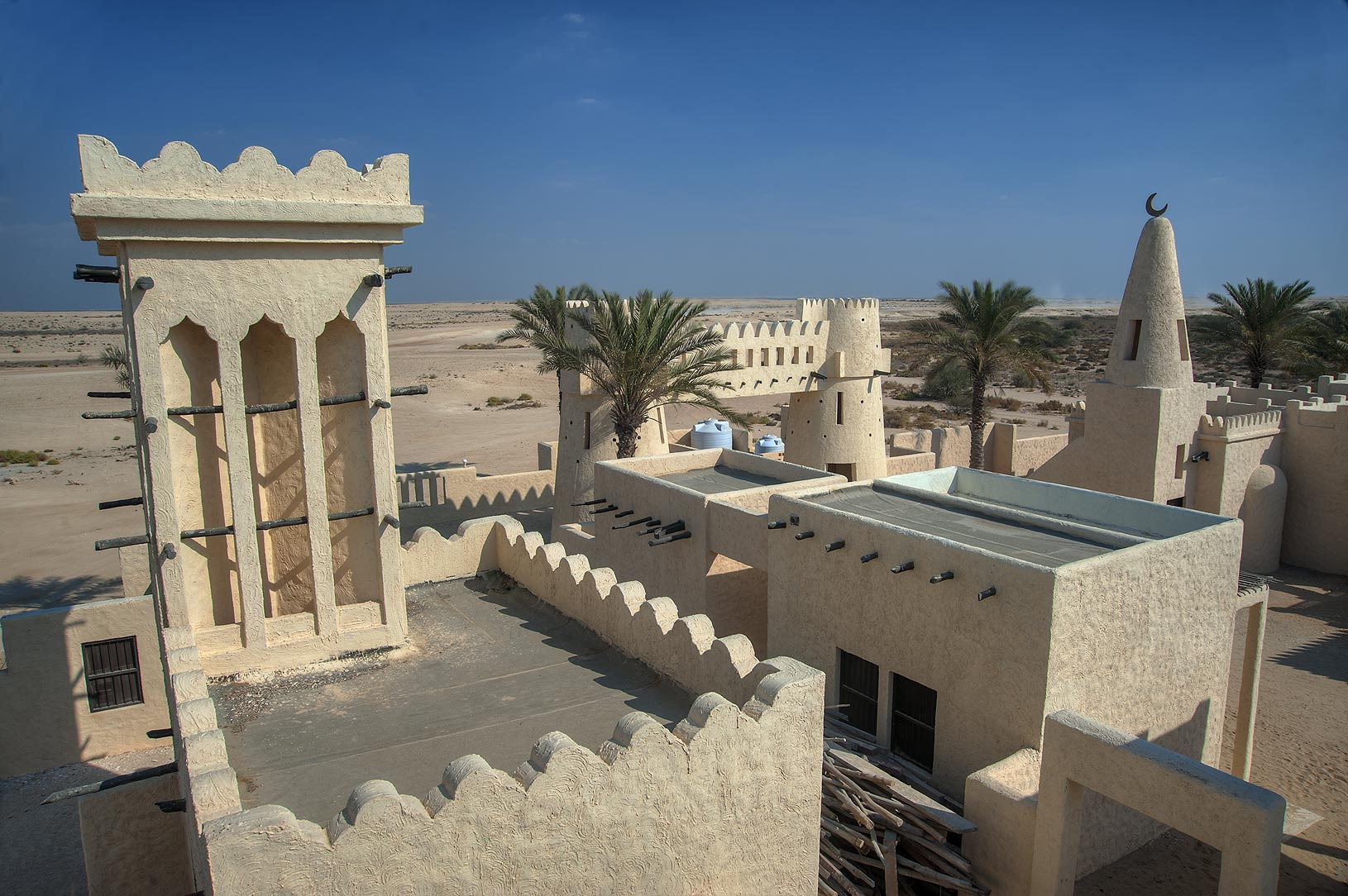 Film City in Ras Abrouq peninsula in west central...view from observation platform. Qatar