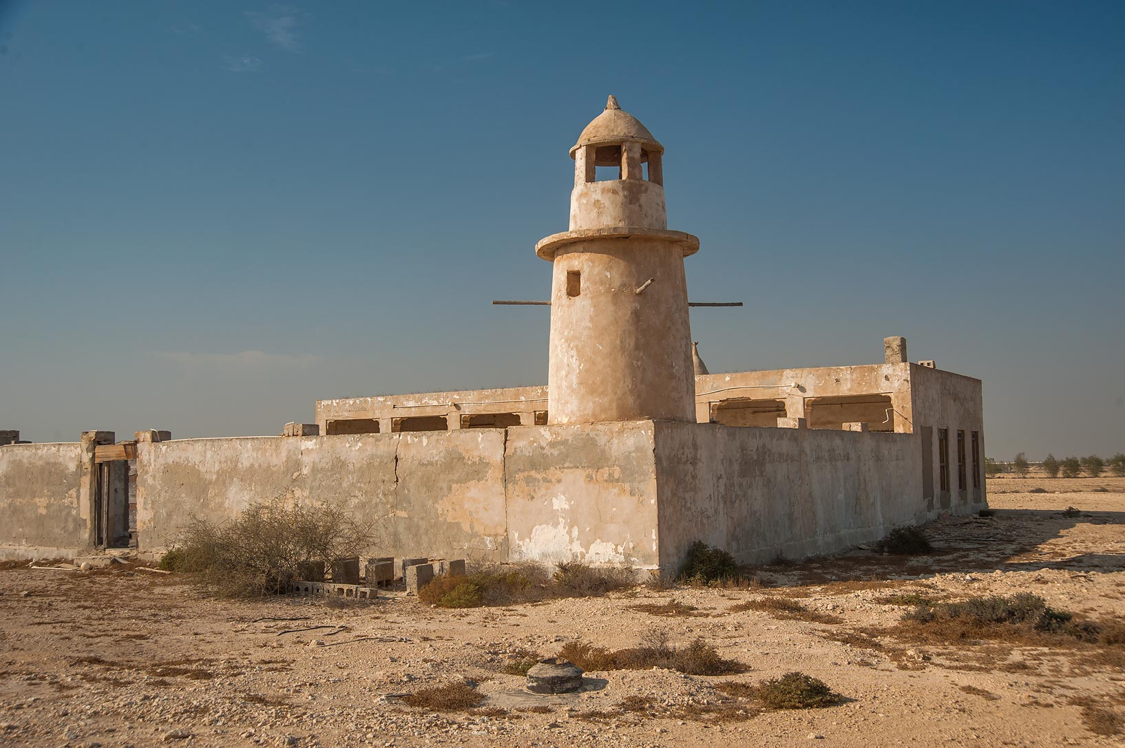 Old mosque in area of Ras Laffan Farms. Northern Qatar