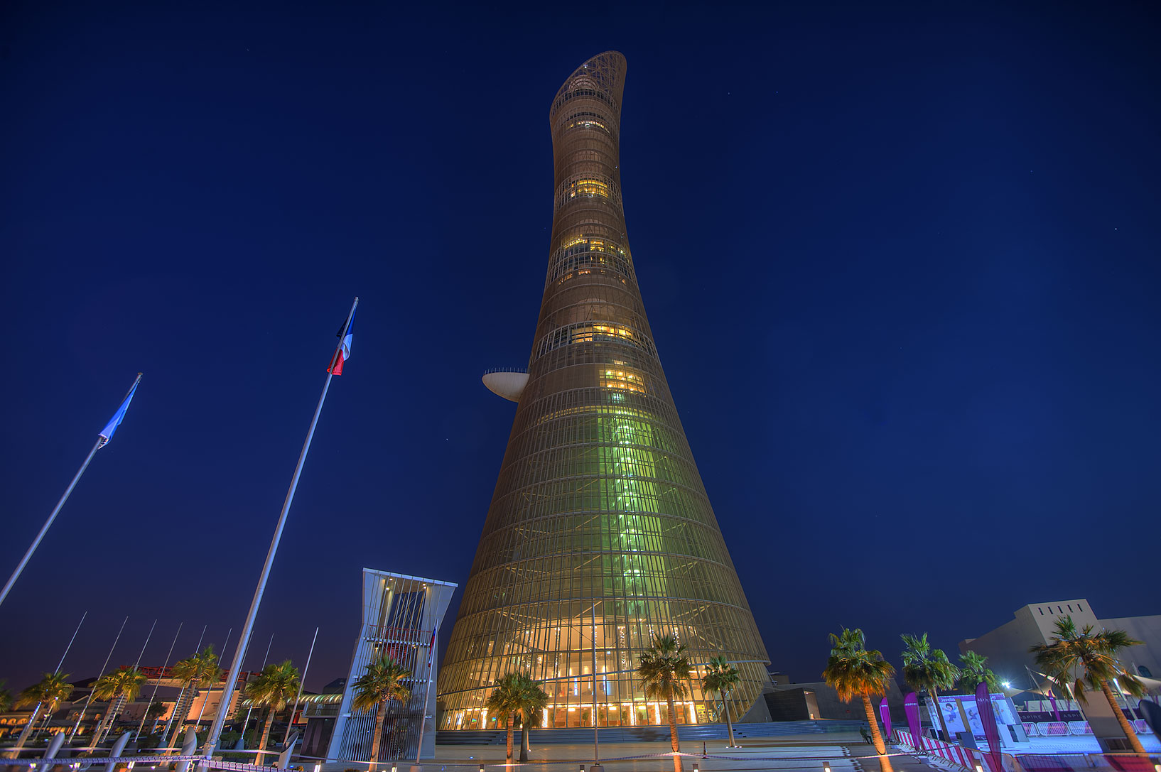 Torch Tower in Aspire Zone. Doha, Qatar