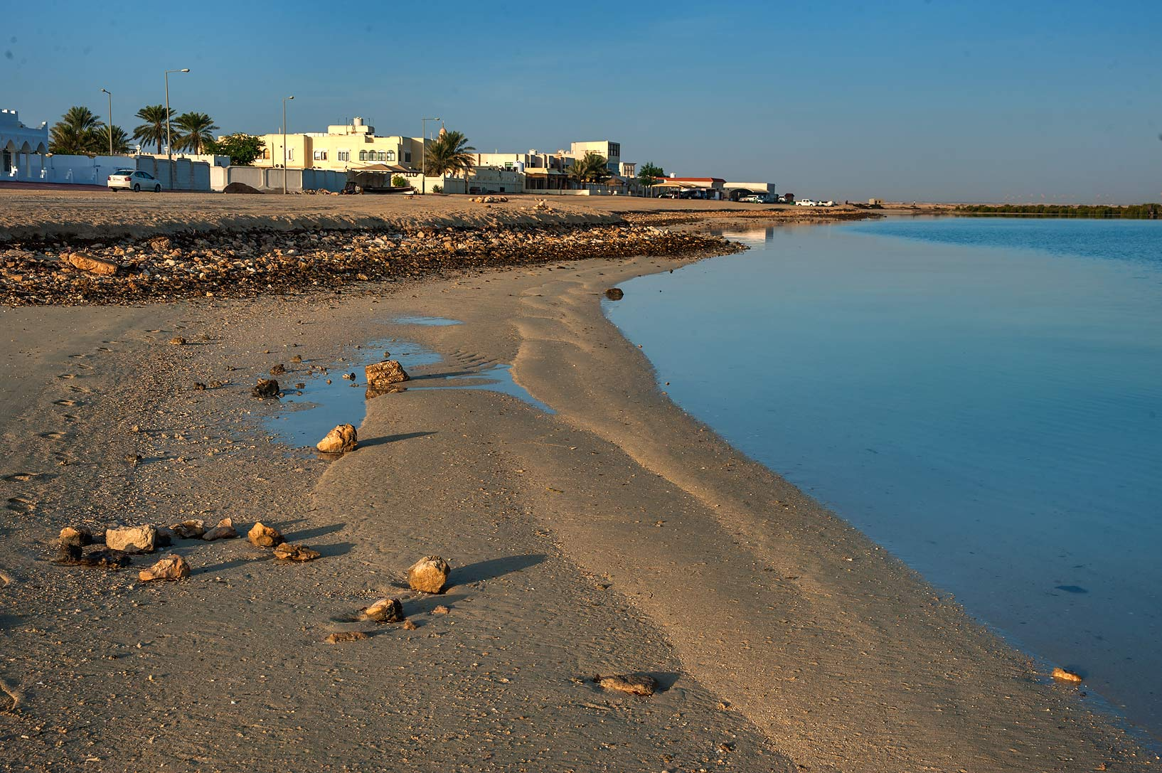 Beach in Al Thakira. North from Al Khor, Qatar