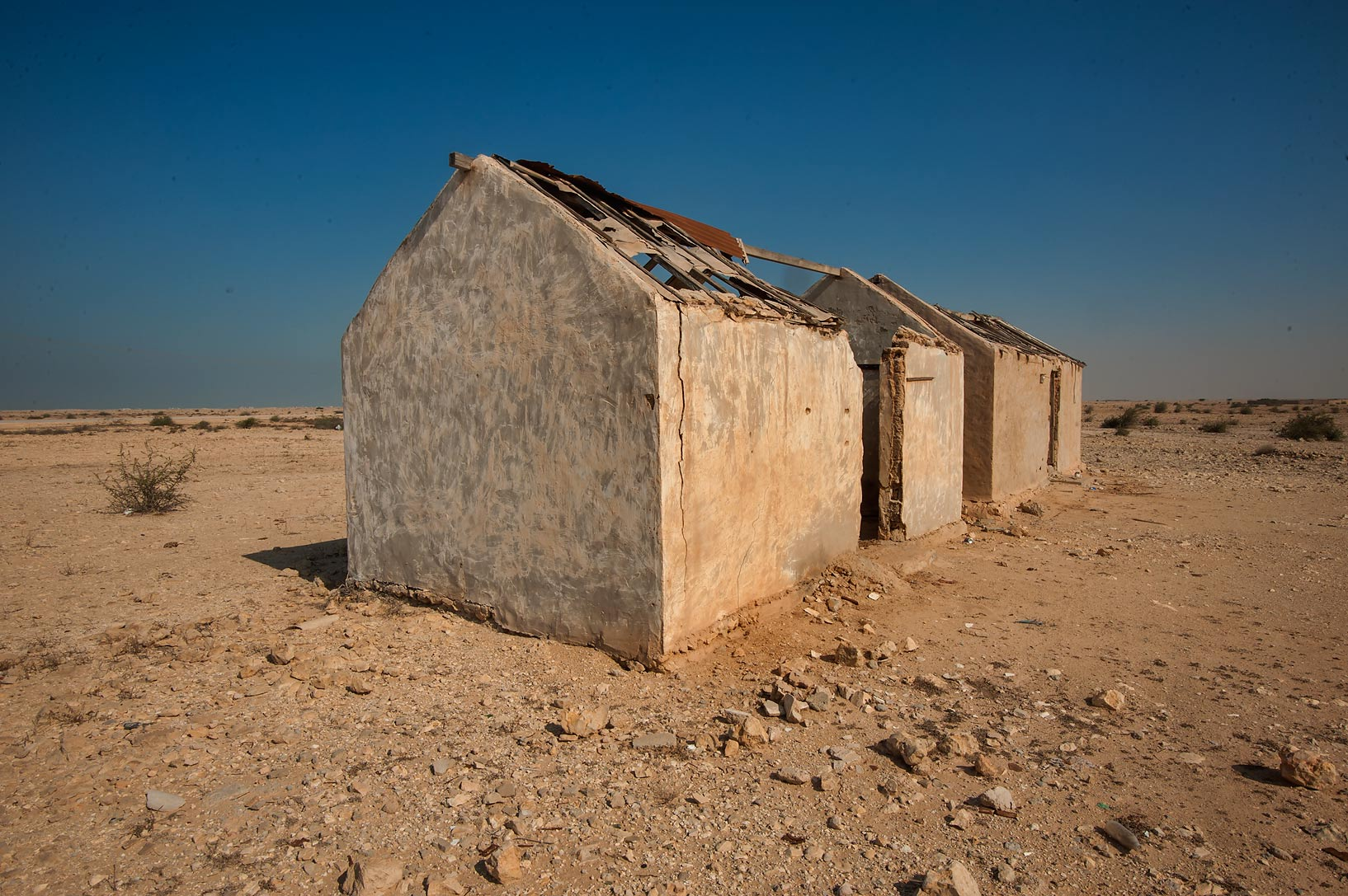 Stone house of Ben Sweden in Ain Mohamed Fort...Rd. north from Zubara. Northern Qatar