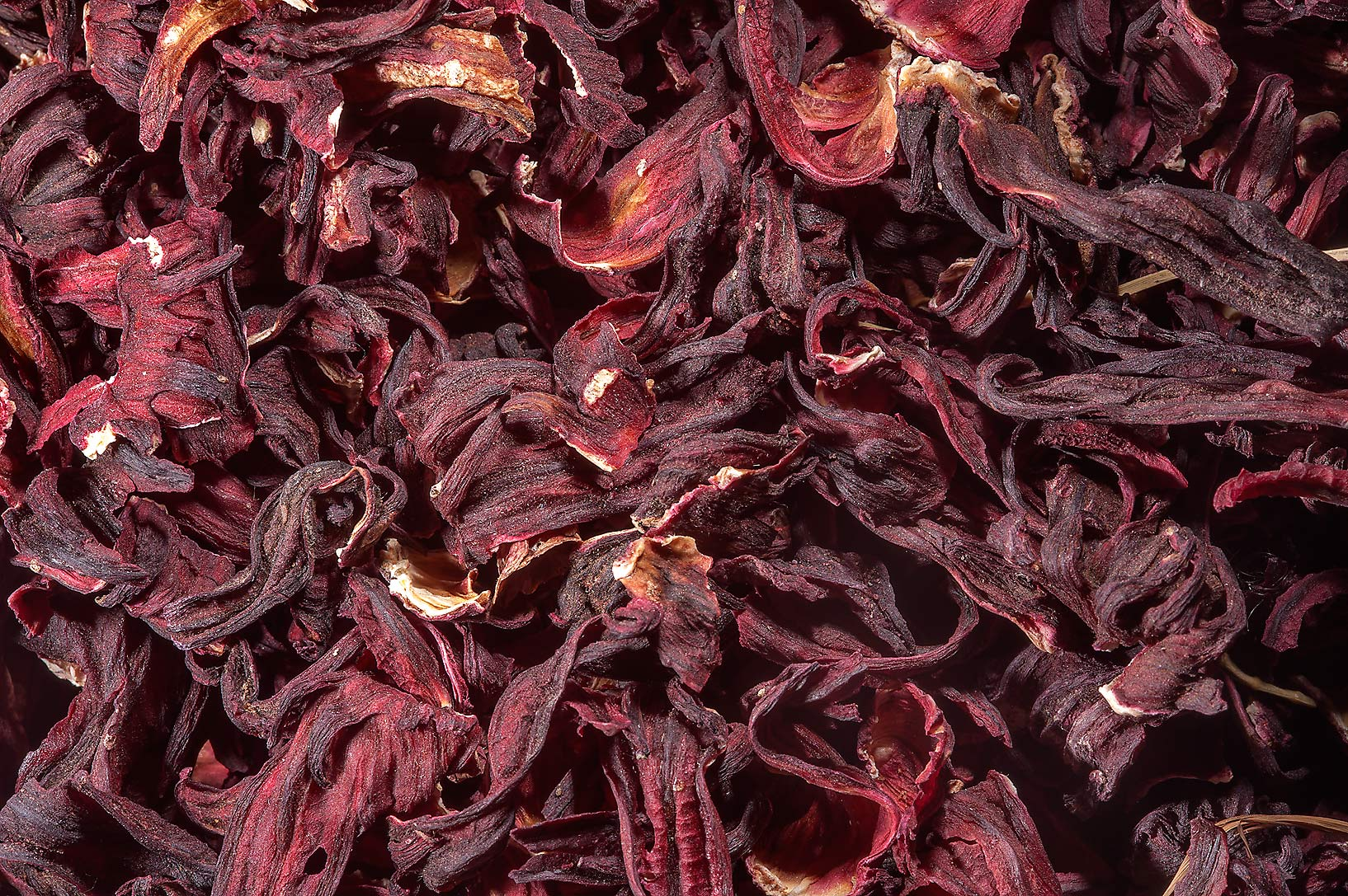 Dried hibiscus flowers in spice section in Souq Waqif (Old Market). Doha, Qatar
