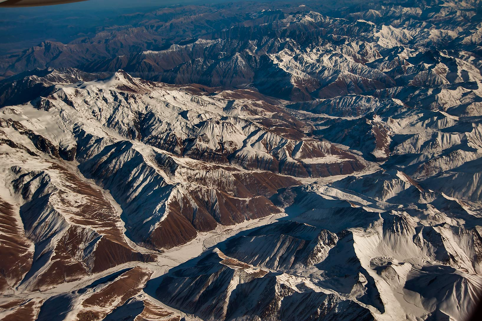 Caucasus Mountains east from Elbrus in Russia...Abu Dhabi to St.Petersburg in Russia