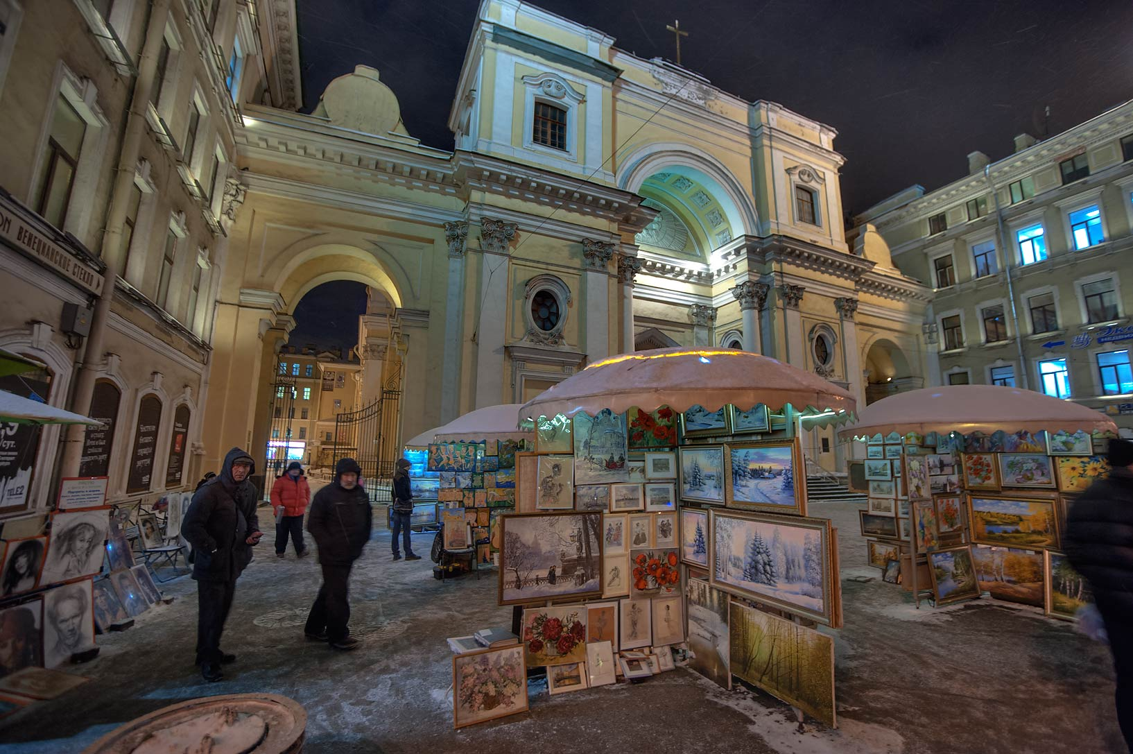 Art exhibition at Nevsky Prospect. St.Petersburg, Russia