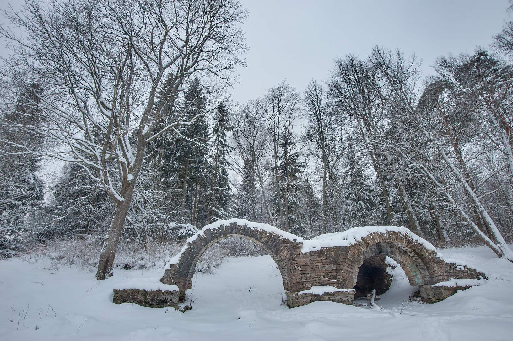 Stone arch near Elizavetin Pavilion in Pavlovsk...a suburb of St.Petersburg, Russia