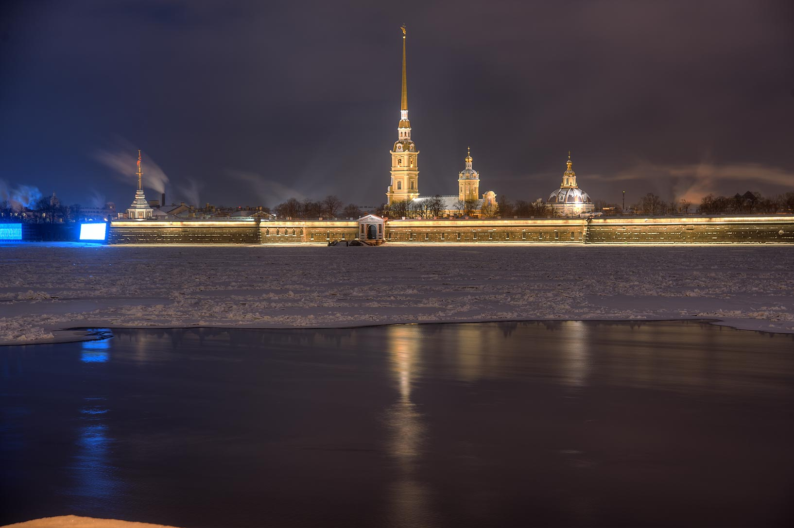 Peter and Paul Fortress from Dvortsovaya Embankment. St.Petersburg, Russia