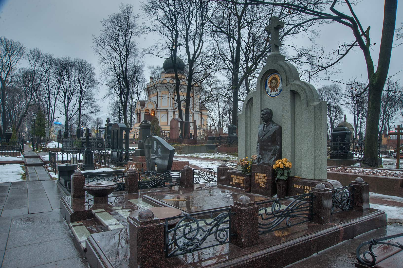 Tomb of M. N. Aksenenko in Nikolskoe Cemetery of...Nevsky Lavra. St.Petersburg, Russia