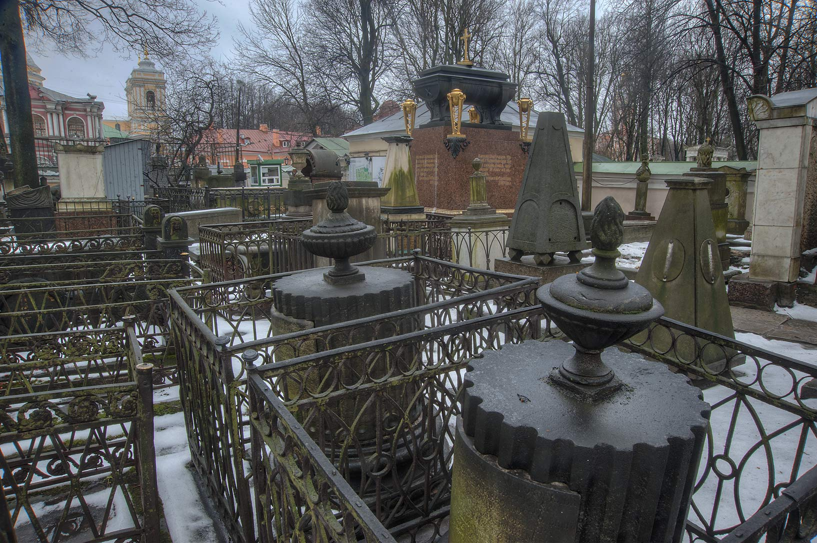 Tombscape of Necropolis of Alexander Nevsky Lavra...Cemetery). St.Petersburg, Russia