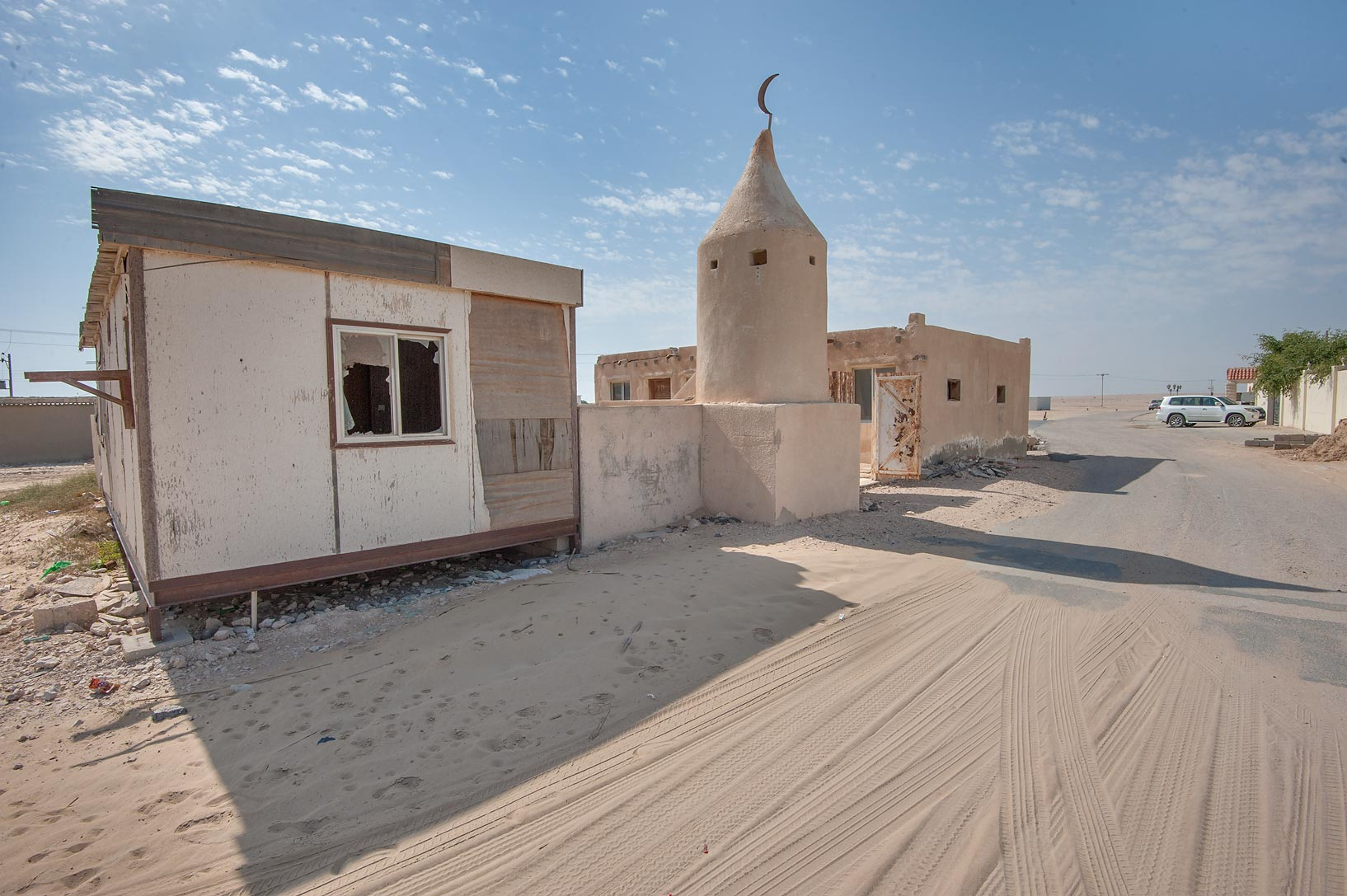 Old mosque in Umm Houtah. Southern Qatar