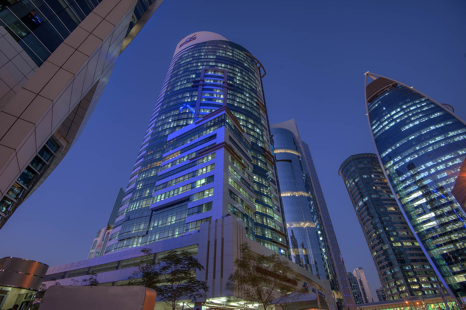 Area of Kahramaa Tower in West Bay. Doha, Qatar