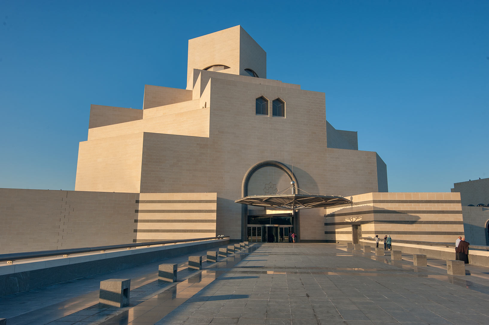 Entrance of Museum of Islamic Art. Doha, Qatar