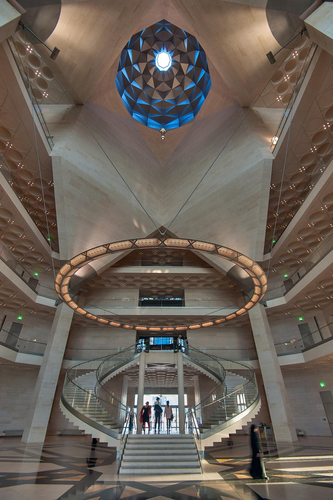Atrium of Museum of Islamic Art. Doha, Qatar