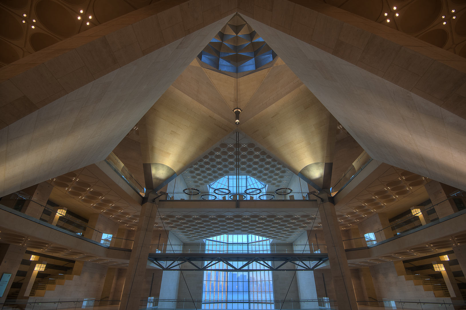 Dome of Museum of Islamic Art at evening. Doha, Qatar