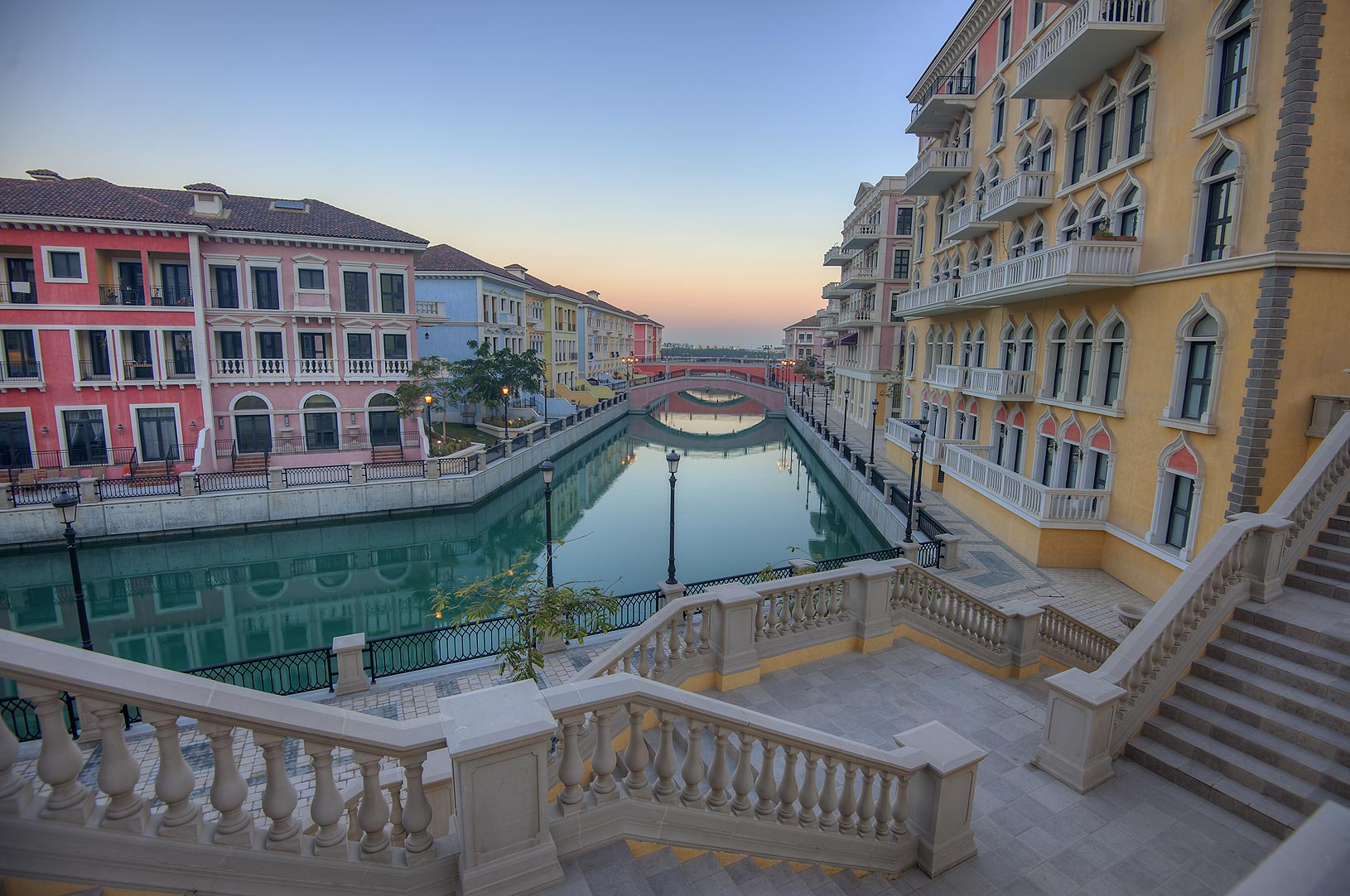 Murano area of Qanat Quartier (Venetian style...Pearl Development Project, Doha, Qatar