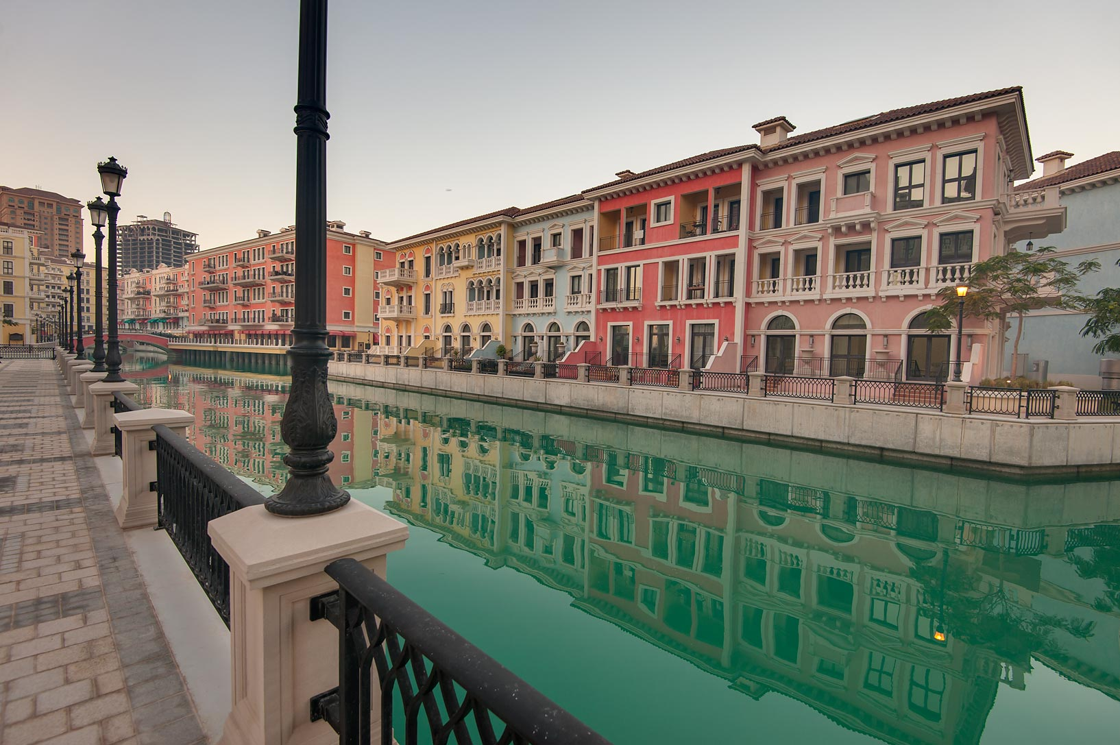 One of canals in Qanat Quartier (Venetian style...Pearl Development Project, Doha, Qatar