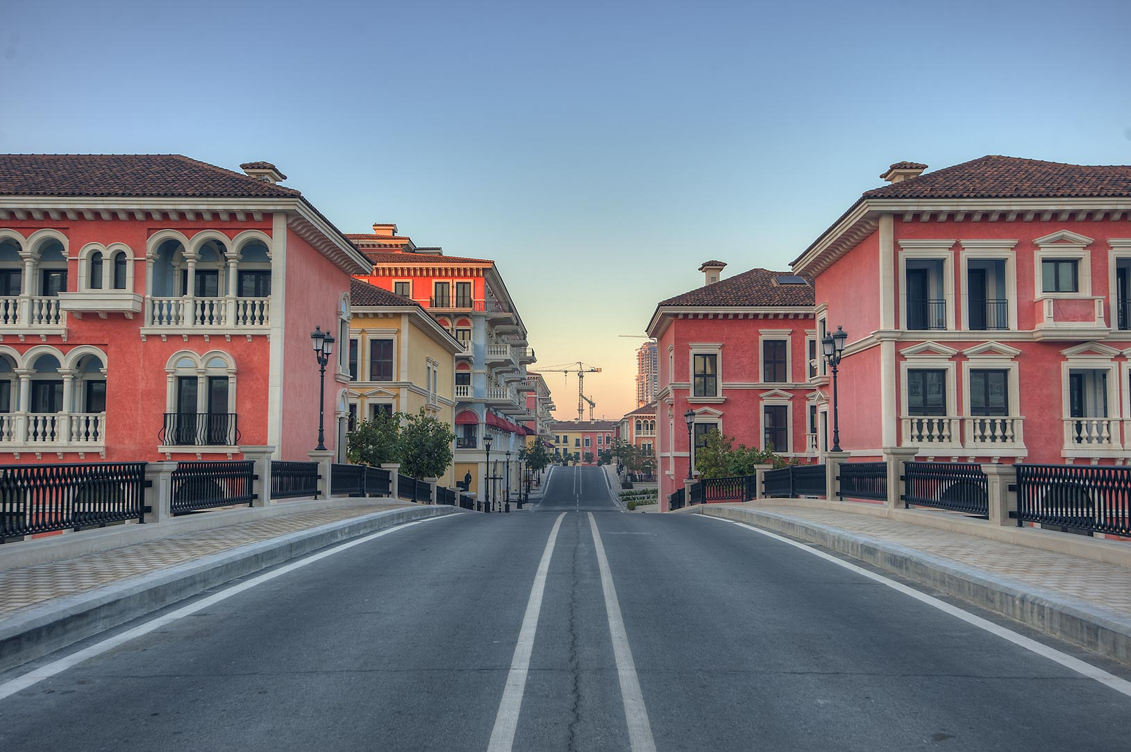 One of bridges in Qanat Quartier (Venetian style...Pearl Development Project, Doha, Qatar