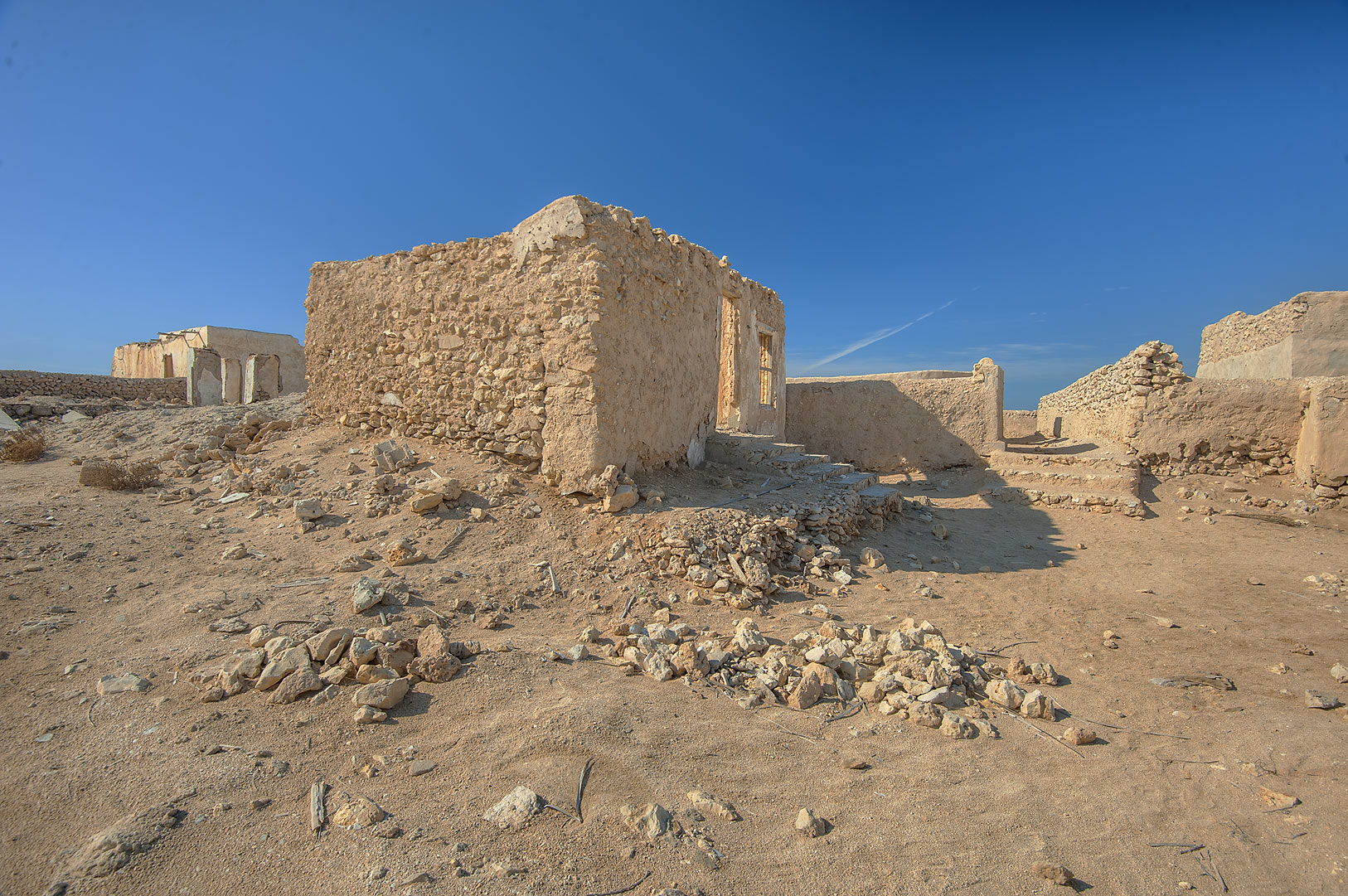 Houses in a village of Al Jumail (Jumayl) west of Ruwais. Northern Qatar