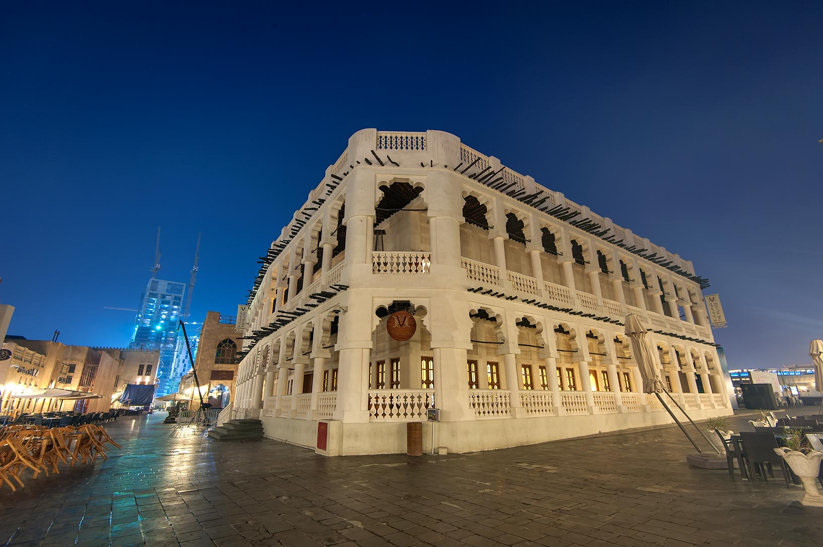 The Village Hotel in Souq Waqif (old market) at morning. Doha, Qatar