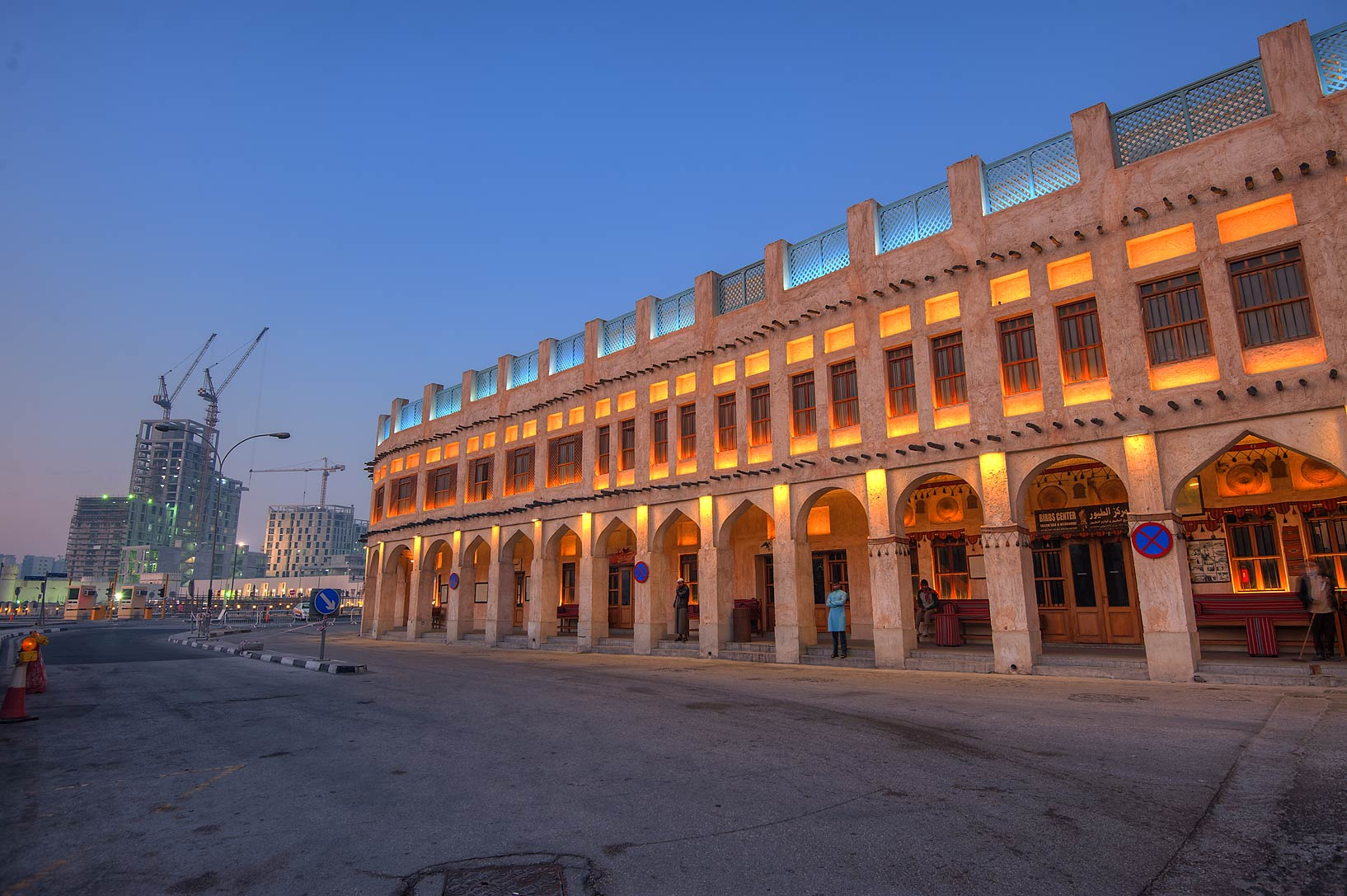 Building of Bird Market in Souq Jaidah behind Souq Waqif. Doha, Qatar