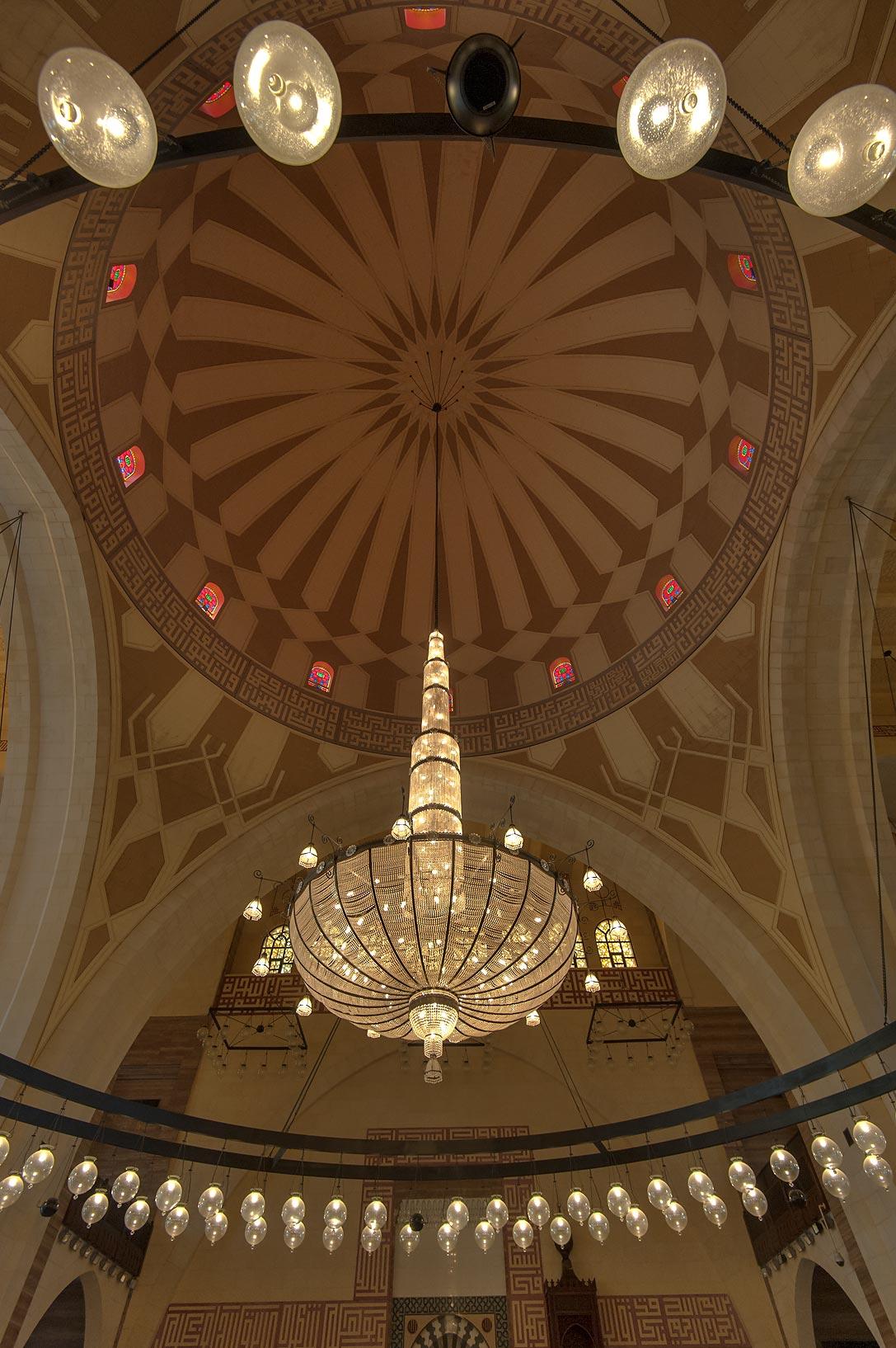 Fiberglass dome of Ahmed Al Fateh Mosque. Manama, Bahrain