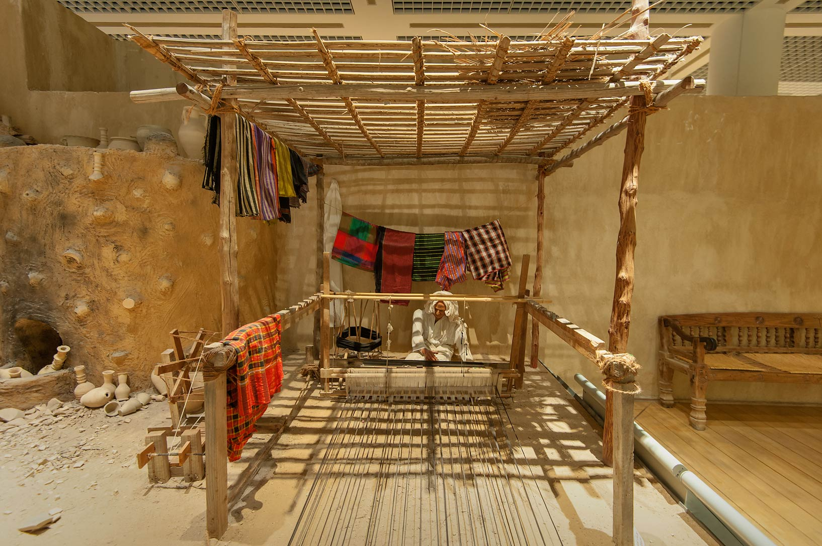 Exhibition of lifestyle in Bahrain National Museum. Manama, Bahrain