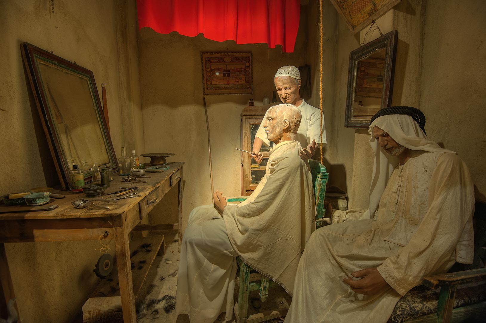 Exhibition of old lifestyle in Bahrain National Museum. Manama, Bahrain