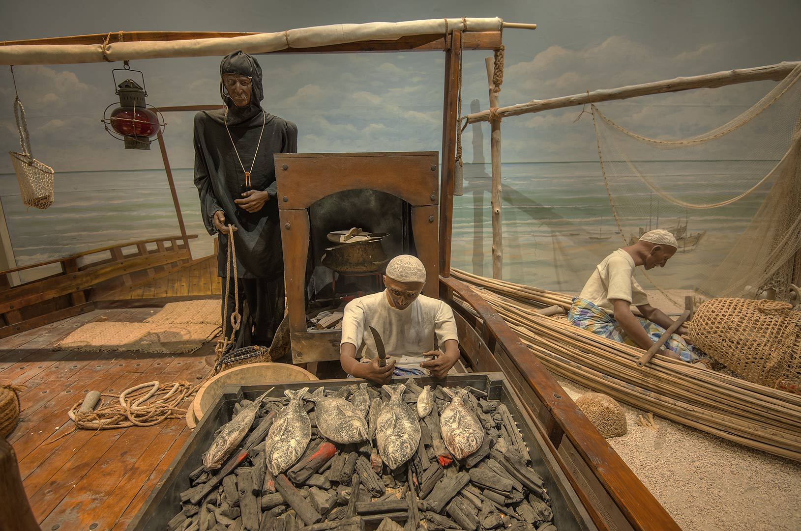 Exhibition of marine lifestyle in Bahrain National Museum. Manama, Bahrain